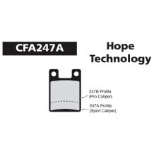 EBC CFA247A HOPE PRO OPEN FIT DISC BRAKE PADS - 3 COMPOUND CHOICES